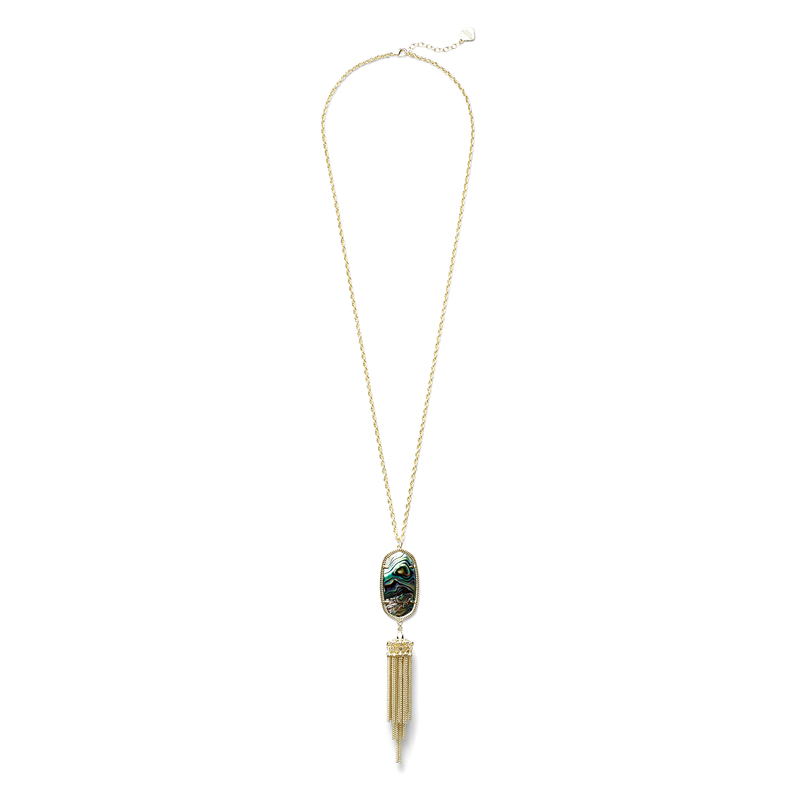 Kendra Scott Rayne Necklace in Gold Abalone